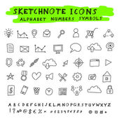 Vector Doodle Icons — Stock Vector