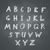 Alphabet on Chalkboard — Stock Vector