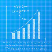 Diagramma di blueprint — Vettoriale Stock