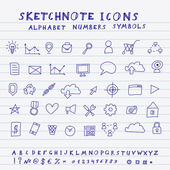 Vector Doodle Icons — Stockvector