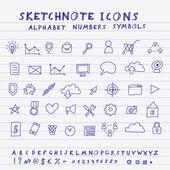 Vector Doodle Icons — Stockvektor