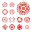 Round Ornament Set — Stock Vector #49167749