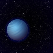 Cartoon Venus in open space — Stock Vector