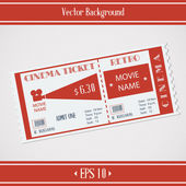 Retro Cinema Ticket — Wektor stockowy