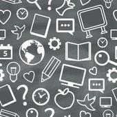 Education Seamless Pattern — Stock Vector