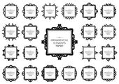 Ornamental frame set — Stock Vector