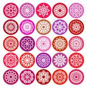 丸い飾りセット — ストックベクタ