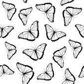 Vlinders naadloze patroon — Stockvector