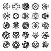 Round Ornament Set — Stock Vector