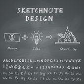 Vector Doodle Start Up Design — Stock Vector