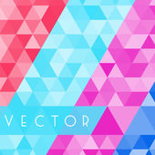 Triangles geometric background — Stock Vector
