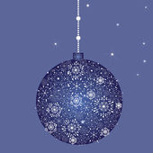 Beautiful Christmas (New Year) card. Vector illustration. — Stock Vector
