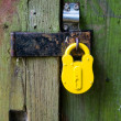 Yellow padlock — Stock Photo