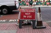 Crossing not in use — Stock Photo
