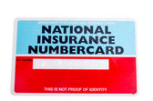 National insurance numbercard — Stock Photo