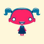 Dark red girl — Stock Vector