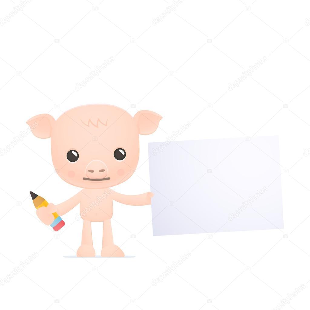 可爱的卡通猪 — 图库矢量图像08 artenot #21118707