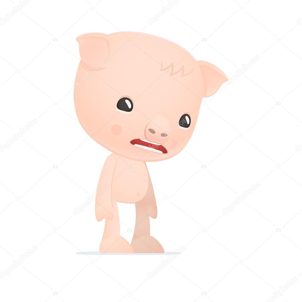 可爱的卡通猪 — 图库矢量图片