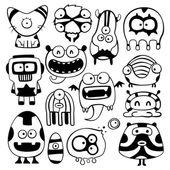 Cartoon monstters — Stockvektor