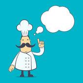 Koch in verschiedenen posen — Stockvektor