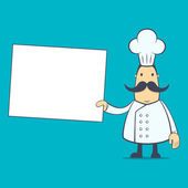 Chef in various poses — Stockvector