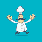 Chef in various poses — Stockvektor