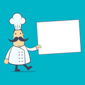 Kock i olika poser — Stockvektor