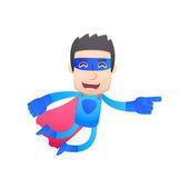 Superheld in verschiedenen posen — Stockvektor