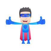 Superheld in verschillende poses — Stockvector