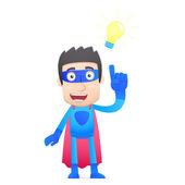 Superhéroe en varias poses — Vector de stock