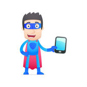 Superhjälte i olika poser — Stockvektor