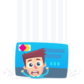 Problems with credit card — Stock Vector
