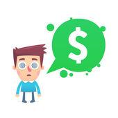 Financial paranoia — Stock Vector