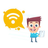 Wi fi available — Stockvektor