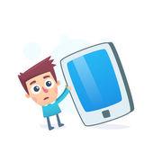 Oversized smartphone — Stock Vector