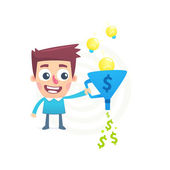 Talent to turn ideas into money — Stock Vector