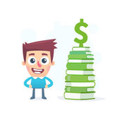 Knowledge about money — Stock Vector