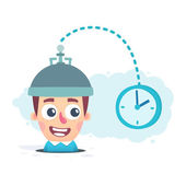 Study of time — Stock Vector