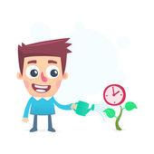 Cultivation time — Vecteur
