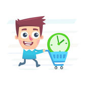 купить дополнительное время — Cтоковый вектор