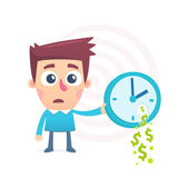 Time spent money — Stock Vector