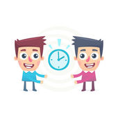 Joint management of time — Stock Vector