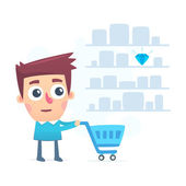 Good choice of shopping in a store — Stock Vector
