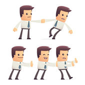 Set of manager character in different poses — Stock Vector