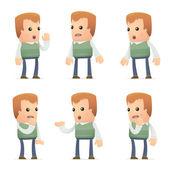 Satz von nachbar charakter in verschiedene posen — Stockvektor