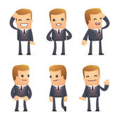 Set of advisor character in different poses — Vector de stock