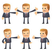 Set of advisor character in different poses — Stock Vector