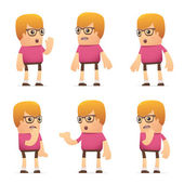 Set of dude character in different poses — Vettoriale Stock