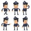 Set of policeman character in different poses — Stock Vector #49464303