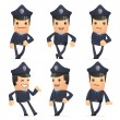 Set of policeman character in different poses — Stock Vector #49464363